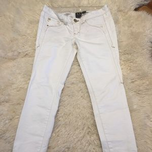 Armani Exchange White Jeans